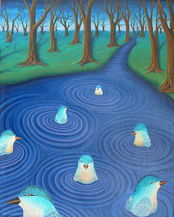 Aquabird Dream, by Robin Urton