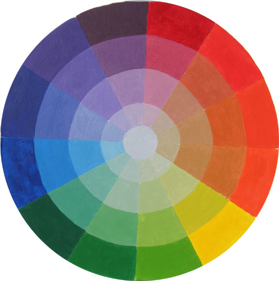 Above Is A Color Wheel Created By My Student Michelle Hess She Did Especially Well With Defining The Graduated Steps Of Gray Moving From Pure Hues On