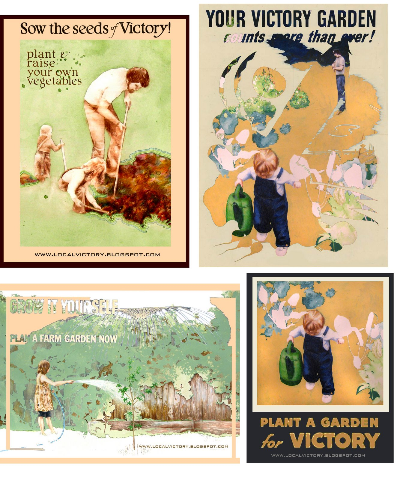 Rebecca Shelly, Victory Garden posters