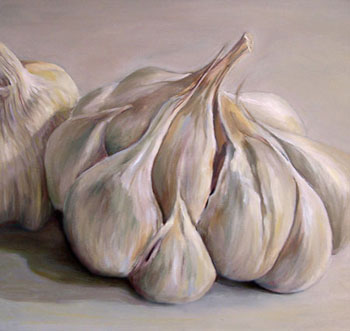 Image result for painting of garlic