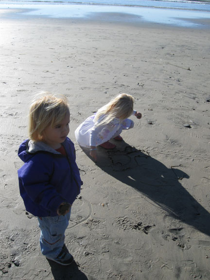 California beach children