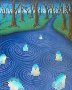 """Aqua Bird Dream"", by Robin Urton"