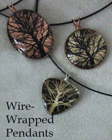 Wire-wrapped Pendants by Robin Urton